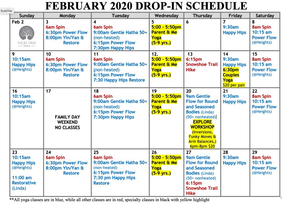 Feb 2020 Calender 1